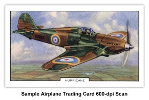 Sample Airplane Trading Card