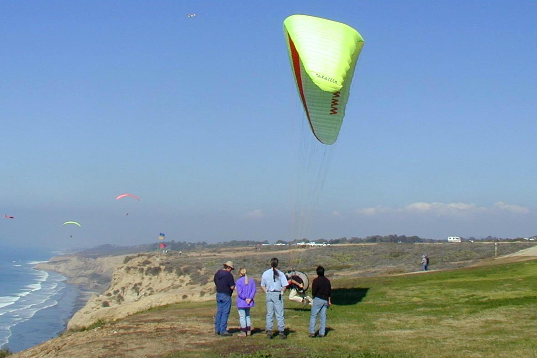 Paragliding at the Torrey Pines Gliderport, La Jolla, California