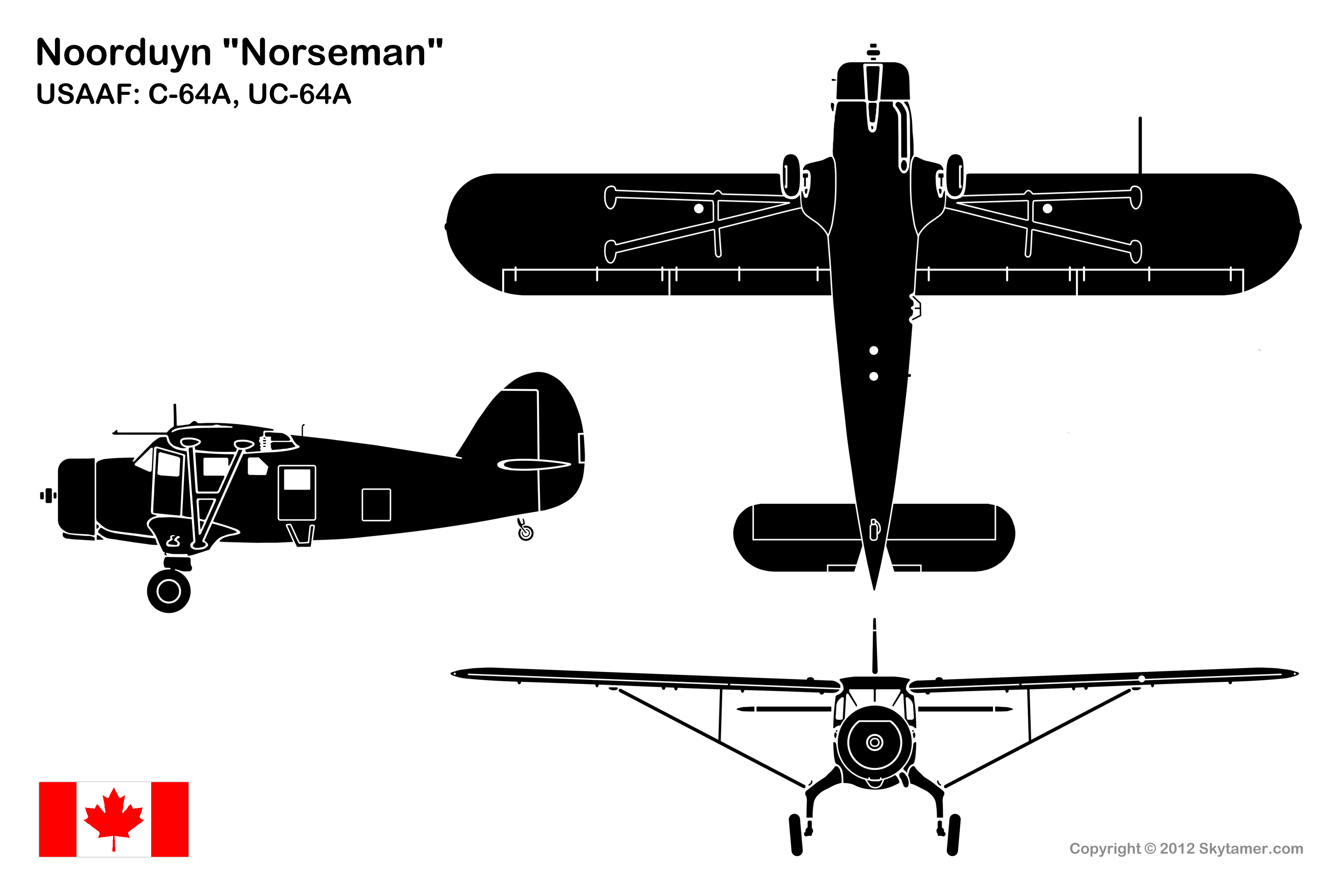 Noorduyn Norseman Mk Iv Specifications And Photos