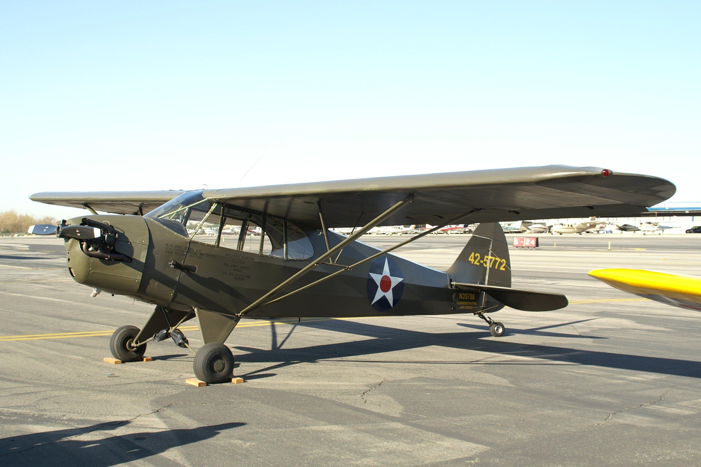 Piper J 5a Cub Cruiser Wwii Three Seat Observation Aircraft