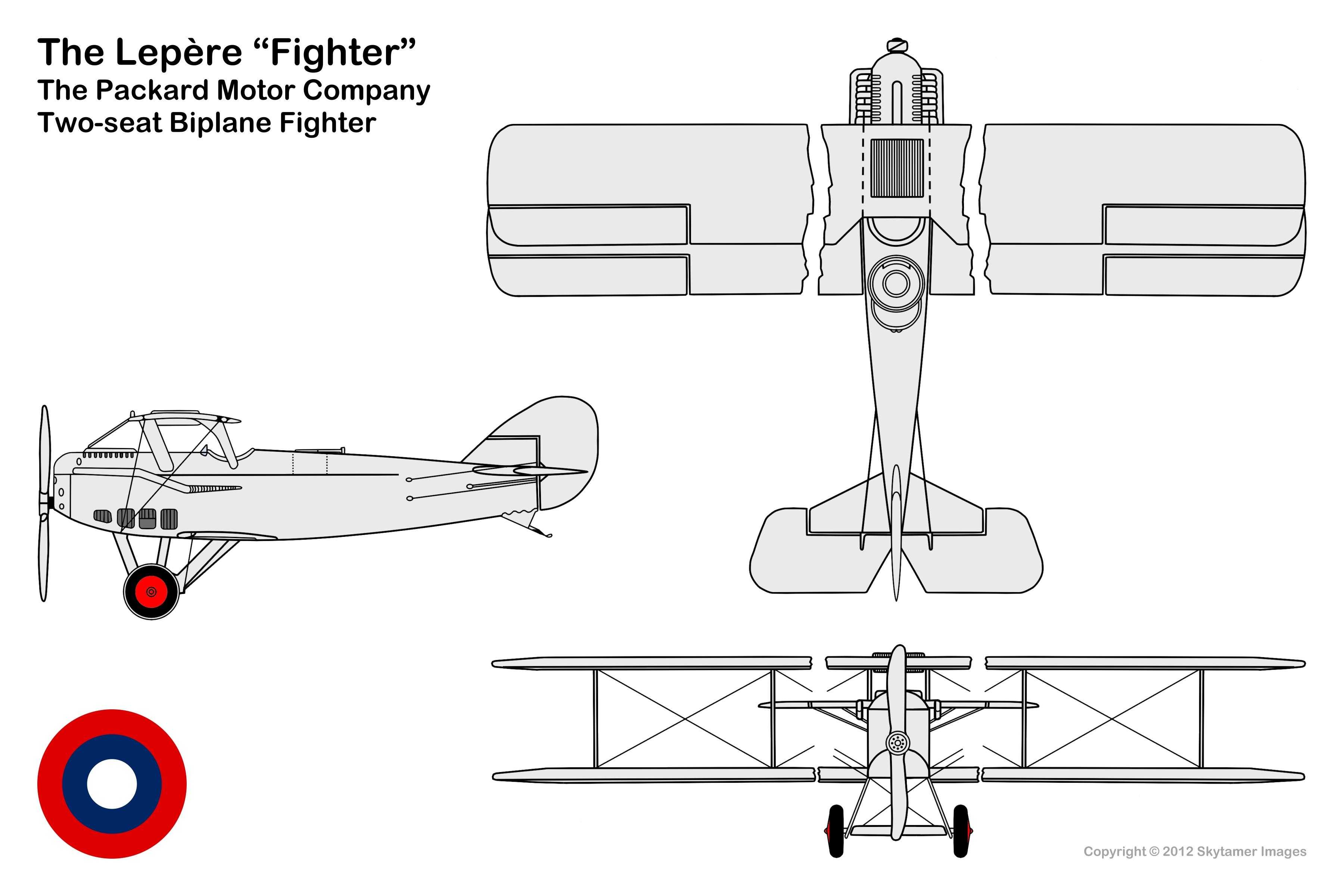 Plane View Drawing Span Upper Plane 39 Feet