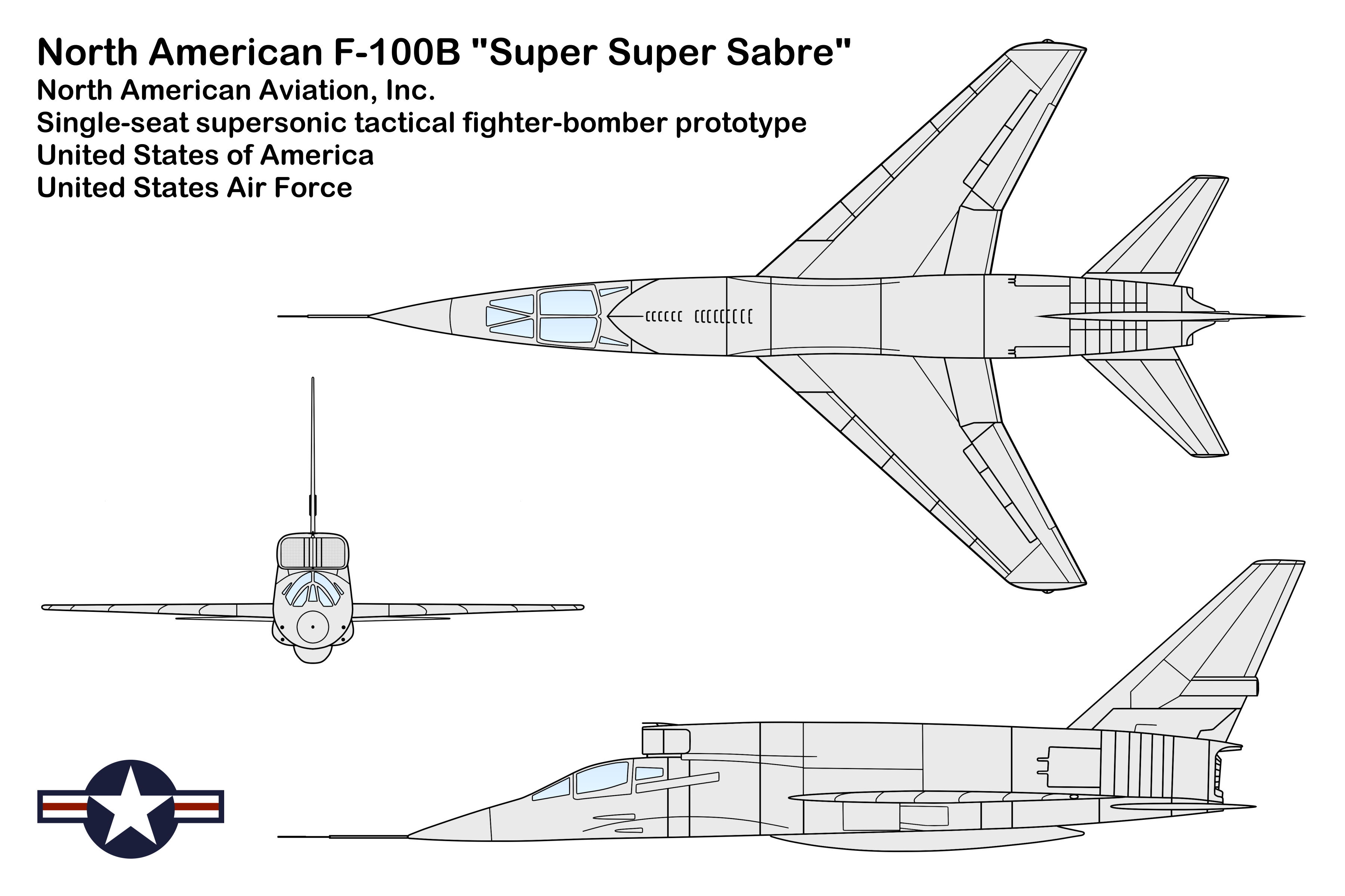 N-Listings of Aircraft, 3-View and Silhouette Drawings