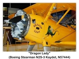1941 Boeing-Stearman 'Dragon Lady' N2S-3 Kaydet Model IB75A, N57444) at the Pearson Air Museum, Vancouver, WA