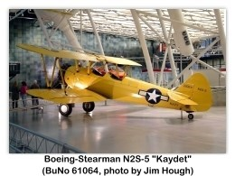 JH117: Boeing-Stearman N2S-5 Kaydet (BuNo 61064) at the National Air and Space Museum Steven F. Udvar-Hazy Center, Chantilly, Virginia, 02-16-2004 (Photo JH117 by Jim Hough)