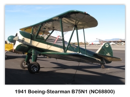 1941 Boeing-Stearman B75N1 (NC68800, s/n 75-1694) at the 2009 Cable Air Show, Upland, California