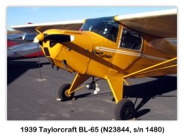 1939 Taylorcraft BL-65 (N23844, s/n 1480) at the 2009 Cable Air Show, Cable Airport, Upland, CA (Photo No. 20090111-0040)