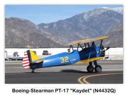 Boeing-Stearman PT-17 Kaydet (N4432Q, s/n 75-1969) at the 2009 Cable Air Show, Upland, California