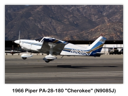 "1966 Piper PA-28-180 ""Cherokee 180"" (N9085J, s/n 28-3122) at the 2009 Cable Air Show, Cable Airport, Upland, CA"
