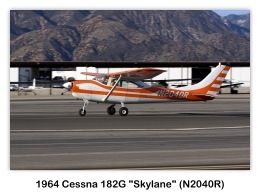 1964 Cessna 182G Skylane (N2040R, s/n 18255240) at the 2009 Cable Air Show, Cable Airport, Upland, CA