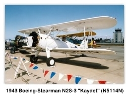 1943 Boeing-Stearman N2S-3 Kaydet (B75N1, N5114N, s/n 75-7721) at the 1992 Hawthorne Air Faire, Hawthorne, CA