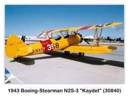 1943 Boeing-Stearman N2S-3 Kaydet (N30840) at the 1992 Hawthorne Air Faire, Hawthorne, CA