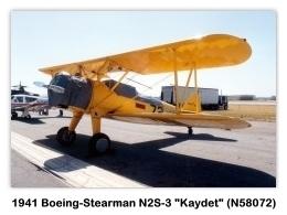 1941 Boeing-Stearman N2S-3 Kaydet (A75, N58072, s/n 75-596) at the 1985 MCAS El Toro Airshow