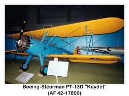 1942 Boeing-Stearman PT-13D Kaydet (AF 42-17800) at the USAF Museum, WPAFB, Dayton, OH