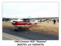 1962 Cessna 182F Skylane (N3570Y, c/n 18254470) at the 1994 MCAS El Toro Airshow