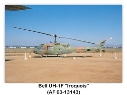 Bell UH-1F Iroquois (Huey) Six-seat Utility Helicopter
