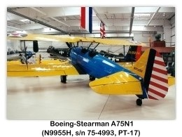 Boeing-Stearman PT-17 Kaydet (A75N1, N9955H, c/n 75-4993) at the 1999 Palm Springs Air Museum, Palm Springs, CA