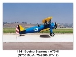 1941 Boeing-Stearman PT-17 Kaydet (A75N1, N75010, c/n 75-4479) at the 1999 Camarillo Air Show, Camarillo, CA
