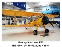 Boeing Stearman N2S-5 Kaydet (N5359N, s/n 75-5522, Model E75) at the 1999 Palm Springs Air Museum, Palm Springs, CA
