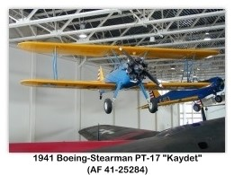 1941 Boeing-Stearman PT-17 Kaydet (AF 41-25284) at the Hill Aerospace Museum, Hill AFB, Salt Lake City, UT
