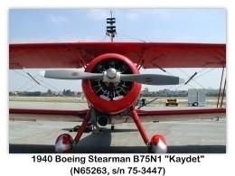 1940 Boeing-Stearman N2S-4 Kaydet (B75N1, N65263, s/n 75-3447) at the 2000 Torrance Airshow, Zamperini Field, Torrance, CA