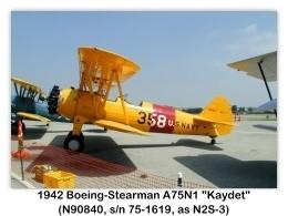1943 Boeing-Stearman N2S-3 Kaydet (A75N1, N90840, s/n 75-1619) at the 2000 Torrance Airshow, Zamperini Field, Torrance, CA