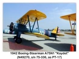 1942 Boeing-Stearman PT-17 Kaydet (A75N1, N49270, c/n 75-336) at the 2000 Torrance Airshow, Zamperini Field, Torrance, CA