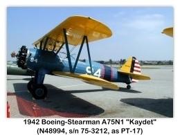 1942 Boeing-Stearman PT-17 Kaydet (A75N1, N48994, c/n 75-3212) at the 2000 Torrance Airshow, Zamperini Field, Torrance, CA