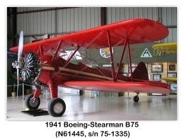 1941 Boeing-Stearman B75 (N61445, s/n 75-1335) at the Planes of Fame Air Museum, Chino, CA (8/21/2003)