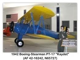 1942 Boeing-Stearman PT-17 Kaydet (A75N1, N65727, c/n 75-4405) at the Tillamook Air Museum, Tillamook, OR