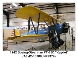 1941 Boeing-Stearman PT-17 Kaydet (N49379, AF 41-1036 displayed as PT-13D) at the March Field Air Museum, Riverside, CA