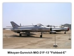 Mikoyan-Gurevich MiG-21F-13 Fishbed E
