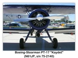 1941 Boeing-Stearman PT-17 Kaydet (A75N1, N61JP, c/n 75-2140) at the Camarillo Air Show, Camarillo, CA