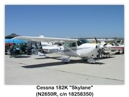 1967 Cessna 182K Skylane (N2650R, c/n 18258350) at the 2005 Camarillo Air Show, Camarillo, CA (8/27/2005)