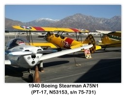 1941 Boeing-Stearman N2S-3 Kaydet (A75N1, PT-17, N53153, s/n 75-731) at the 2006 Cable Air Show, Cable Airport, Upland, CA (1/7/2006)