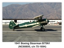 1941 Boeing-Stearman B75N1 (NC68800, c/n 75-1694) at the 2006 Cable Air Show, Cable Airport, Upland, CA (1/7/2006)