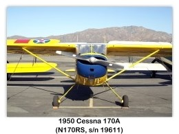 Cessna 170A, Single-engine four-seat conventional-gear high