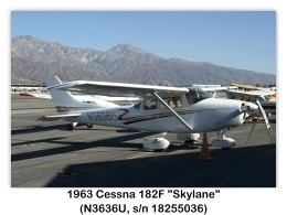 1963 Cessna 182F Skylane (N3636U, c/n 18255036) at the Cable Airshow, Cable Airport, Upland, CA