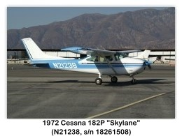 1972 Cessna 182P Skylane (N21238, c/n 18261508) at the Cable Airshow, Cable Airport, Upland, CA
