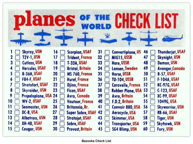 R707 2 Planes Of The World Topps Chewing Gum U S A