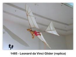 Model of 1485 Leonard da Vinci glider at the San Diego Aerospace Museum, San Diego, CA