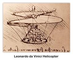 Leonardo da Vinci drawing of a proposed helicopter design. (Photo via Wikipedia Commons)