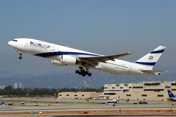 "This Boeing 777-200 displays the registration ""4X-ECC"". The ""4X-"" prefix denotes that it is registered in Israel."