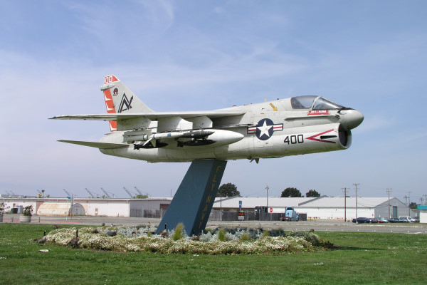 LTV A-7E Corsair II (Gate Guard) photo by John Shupek