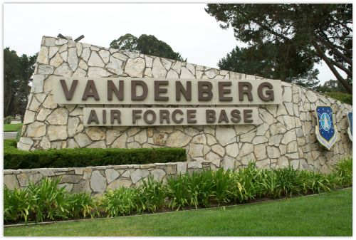 Main gate entrance to Vandenberg Air Force Base