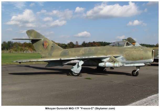 National Air Force Museum >> Mikoyan-Gurevich MiG-17F Fresco-C specifications and photos