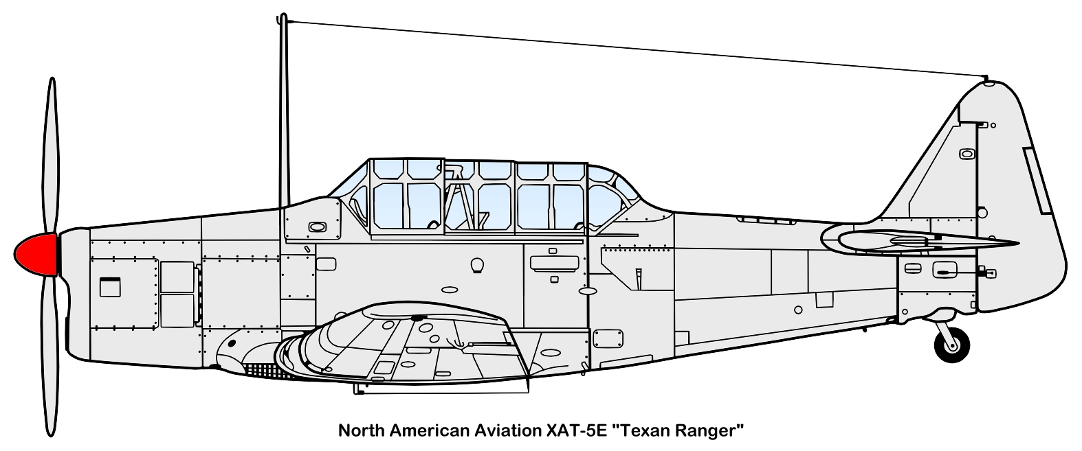 North American XAT-6E Texan-Ranger specifications and photos