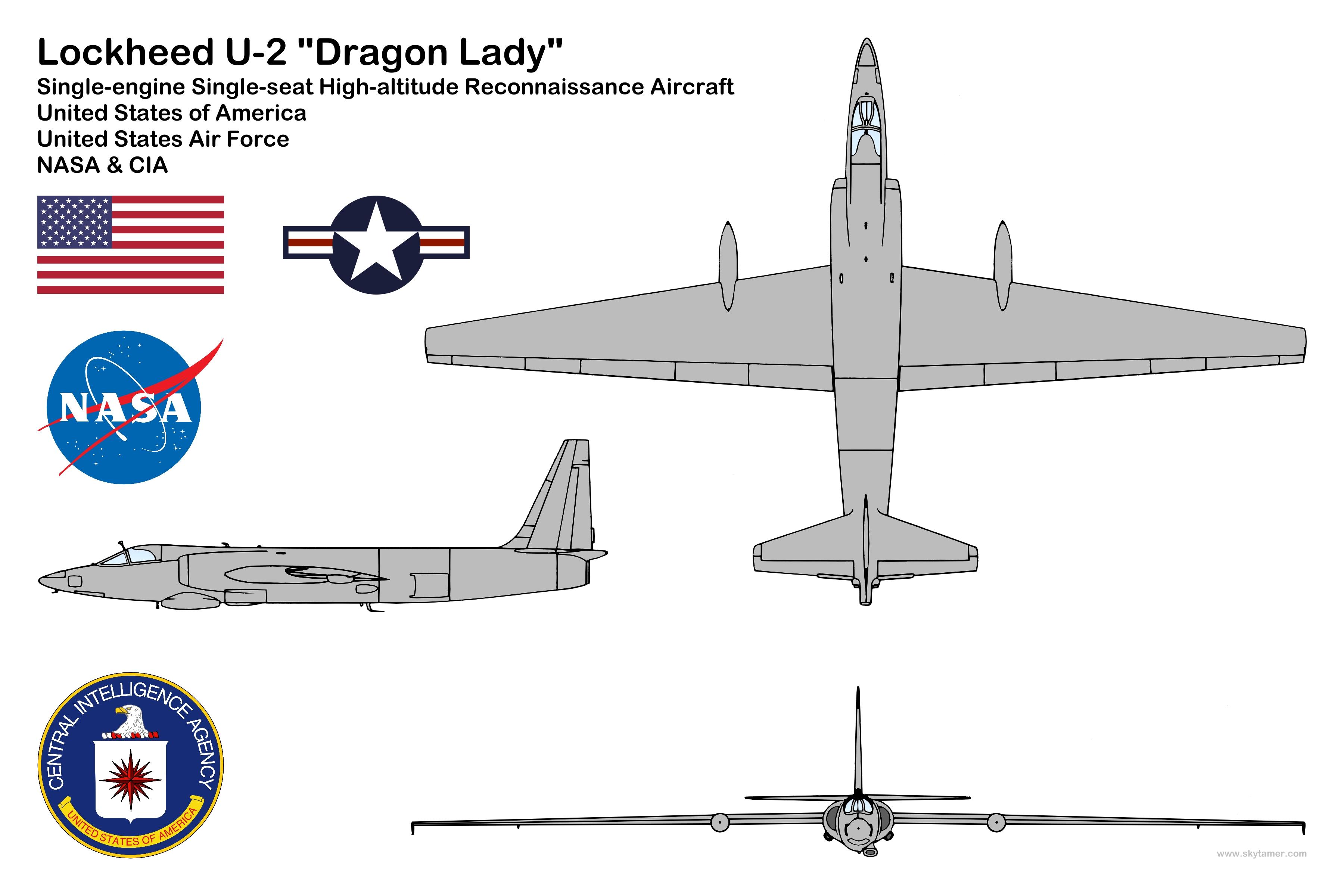 Plane View Drawing u2 Spy Plane 3 View Drawing