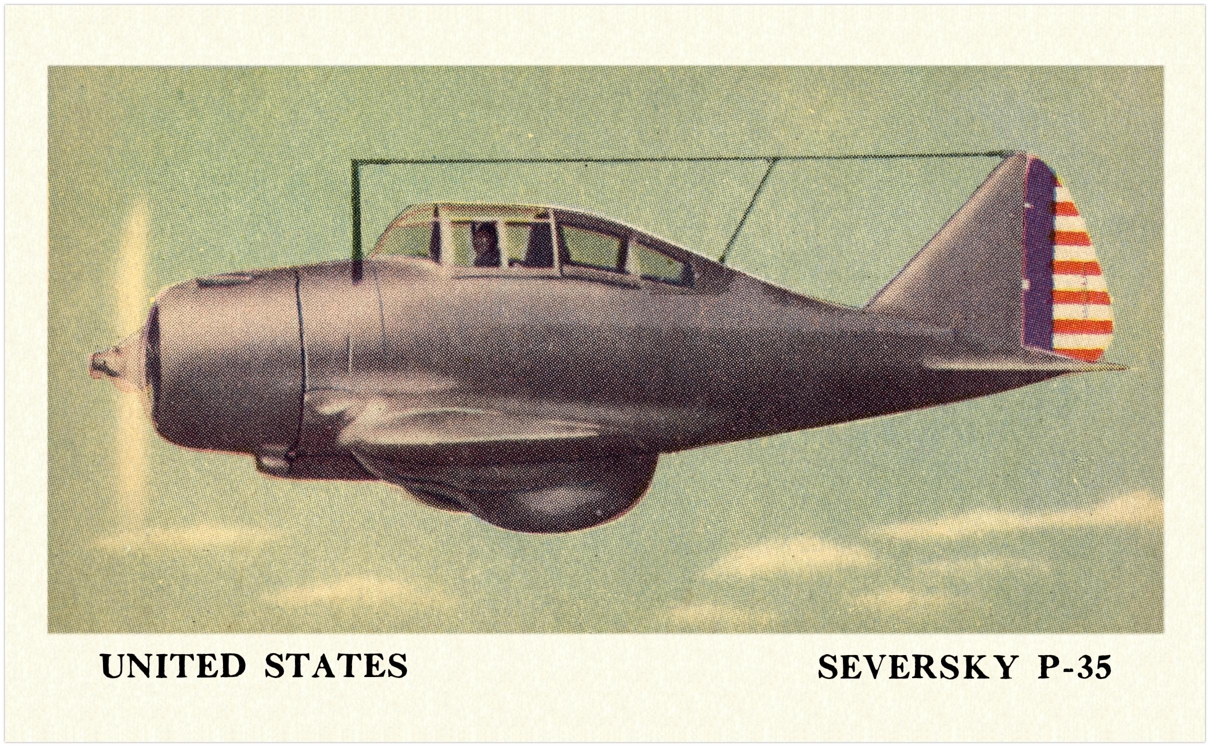 1940s Fighting Planes E151 The Cracker Jack Company Usa [ jpg ]