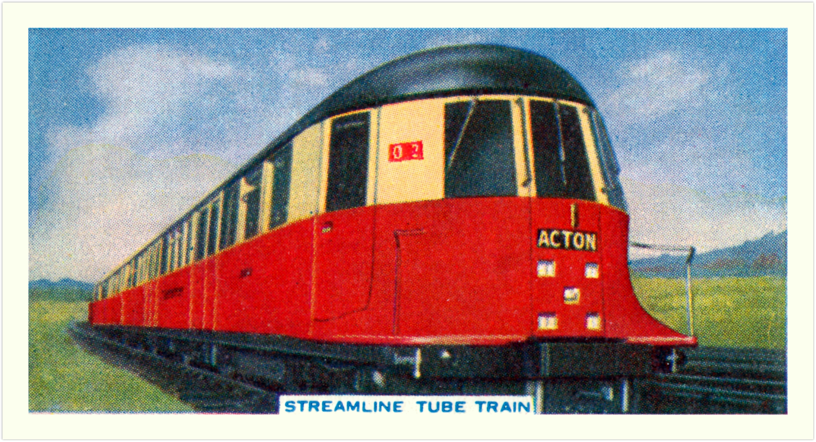 23 - That streamlined tube train!