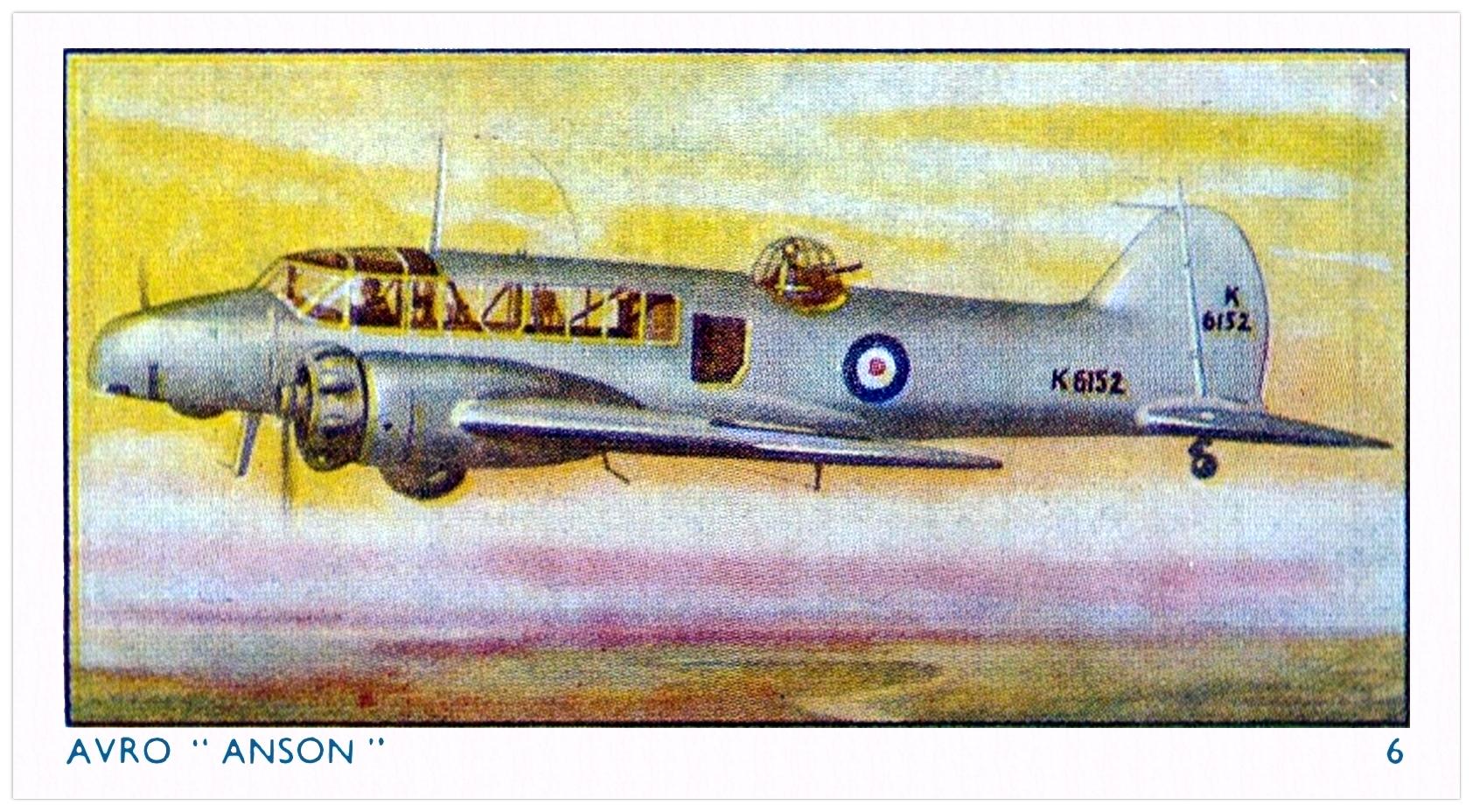 Avro 652A Anson Mk I twin-engine advanced training monoplane